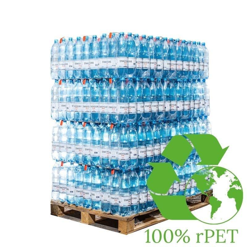 Woda Staropolska 100% rPET 1,5l gazowana PALETA 504 butelki - 1,19zł / szt.